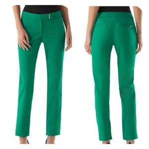 White House Black Market Green Slim Ankle Pant